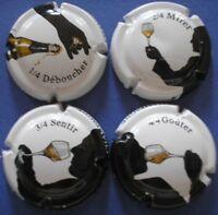 lot de 4 capsules de champagne génériques n°774 à 774c