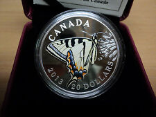 2013 Canada.9999 Silver $20 Butterflies Of Canada (Canadian Tiger Swallowtail)