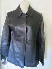 Black Leather Jacket Tailored Fitted Sz 3 4 Express Soft Chic