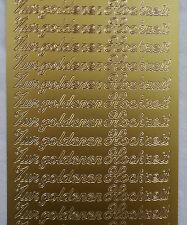 Aufkleber, Zur goldenen Hochzeit - gold- Starform 433
