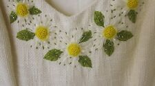 Moschino Cheap and chic Cream Flower Jewel/Netting Embellished US Sz 6 Dress