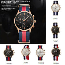 Mens Watch Women SILVER Wristwatches Casual Strap Various Native Military Colors
