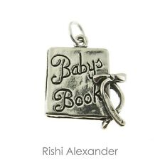 925 Sterling Silver Babys Book Scrap Book Charm Made in USA