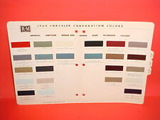 1964 CHRYSLER 300K IMPERIAL CONVERTIBLE PLYMOUTH BARRACUDA DODGE PAINT CHIPS 64