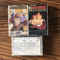 Jimi Hendrix Cassette Lot Of 3 Voodoo Soup Jimi Plays Monterey