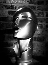 80s DECO REVIVAL Lindsey B silver bust signed dtd 1986, GRACE JONES x METROPOLIS