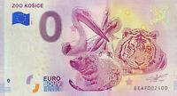 BILLET 0  EURO  ZOO KOSICE SLOVAQUIE   2018 NUMERO 2400