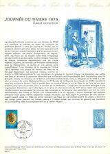 1e jour timbre sur document philatélique Journée du timbre 1975 Plaque de facteu