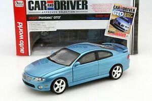 """1:18 AutoWorld 2004 Pontiac GTO Coupe """"Car & Driver Magazine"""" Edition (Rare)"""