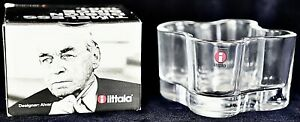 Iittala Alvar Aalto Discontinued Votive 55mm new candle Holder Bowl Clear Glass
