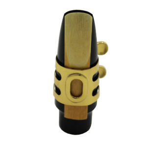 Pro Eastern music hard rubber saxophone mouthpiece metal ligature gold plated