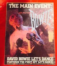 """David Bowie """"Let's Dance"""" Album Advertisement 1983."""