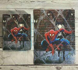 VINTAGE 1988 THE AMAZING SPIDER-MAN Marvel Jigsaw Puzzle w/ Black Venom COMPLETE