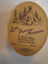 Little Papoose Moccasins hand beaded Arrow Novelty New York #3 infant size shoes