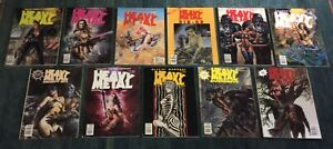 Heavy Metal Magazine Lot (11) 1994 1995