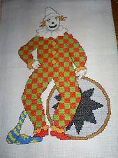 PUNTO Croce Clown completato foto 32 x 22 cm
