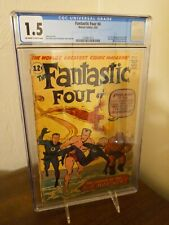 Fantastic Four 4 cgc 1.5 first Silver Age appearance of Namor, Submariner