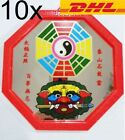 10x Octagonal Yin Yang Mirror Tiger Sword 8 Direction Talisman Fortune X'mas Gif