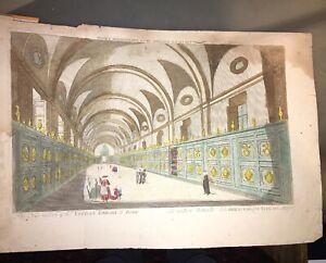 ROME.BIBLIOTHÈQUE VATICANE. GALLERIE NOUVELLE (VUE D'OPTIQUE FIN XVIIIéme).