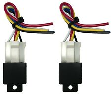 "(2) Beuler 40/60 Amp Waterproof 5-Pin Relay Panel W/ (2) 6"" Socket Wire Harness"