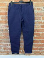 NEXT WOMENS NAVY COTTON TROUSERS PETITE SIZE: 6P BNWT RRP £20