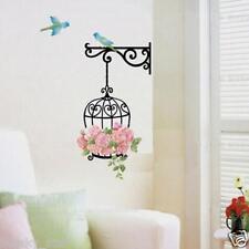 Fashion Flower Bird Wall Decal Sticker Vinyl Removeable Mural Sticker Home Deco