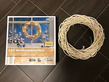 LED-WEIDENDEKORATION - KRANZ - WEIß - 30 LED's MIT WARMWEIßEM LICHT - NEU & OVP