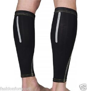 More Mile Mens Ladies Unisex Calf Guards Leg Sleeves Compression Support