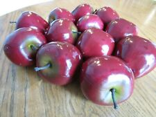 Artificial Apples Fake Fruit 1 dozen Realistic Plastic Display Red Delicious
