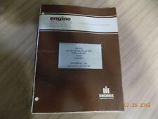 IH INTERNATIONAL 312-466 DIESEL ENGINE SERVICE MANUAL