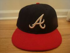 VTG Atlanta Braves New Era hat cap 7 1/4 On Field Cool Base Home Fitted A Town