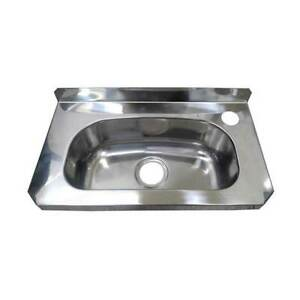 New Compact Hand Wall Basin Sink Stainless Steel Trough PCH 40cm x 22.5cm x 14cm