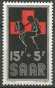 Germany Saar French Occupation 1955 MNH Red Cross Nurse and Baby Mi-360 SG-357