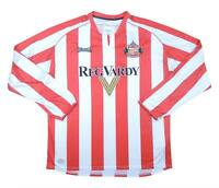 Sunderland 2005-07 Authentic Home Shirt (Excellent) M Soccer Jersey
