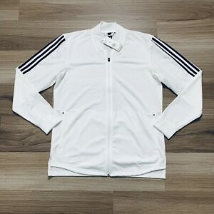 Adidas Escouade (Men's Size M) Athletic Full Zip Tennis Jacket White