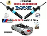 FOR BMW E93 CABRIO CONVERTIBLE 2007->NEW 2X FRONT LEFT+ RIGHT SHOCK ABSORBER SET