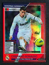 2011-12 Panini WCCF Euro Superstar Cristiano Ronaldo Real Madrid refractor card