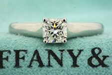 Tiffany & Co. Lucida Solitaire Engagement Ring Platinum .50ct Diamond Band 5.5