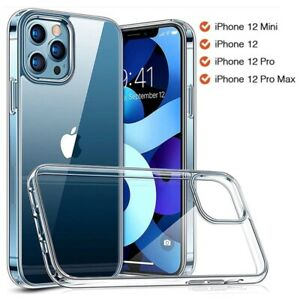 For iPhone 13 Pro 12 11 Pro Max XS SE 2 Slim Silicone Soft Clear TPU Case Cover
