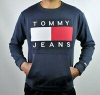 Tommy Jeans Crew Neck Jumper Sweatshirt in Navy
