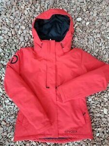 Excellent! Women's SPYDER Insulated Hooded SKI Snow Jacket sz 4 *Company Logo*