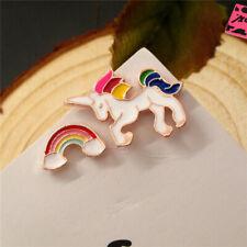 New Betsey Johnson Rainbow Enamel Cute Unicorn Clouds Women Earrings Gift