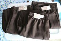 Lot of 3 Women's White Stag Brown Dress Pants Sizes 6 Petite, 8 Avg, 12 Avg
