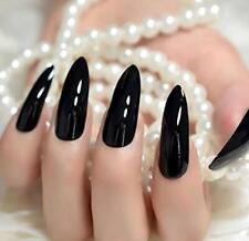 Awanka Glossy Press on Nails Long Fake Nails Stiletto False Nails Artificial