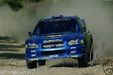 "Petter Solberg World Rally Champion 03 SUBARU IMPREZA HAND SIGNED PHOTO 12x8"" CL"