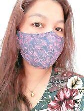 Handmade Unisex Cloth Face Mask w/ Nose Wire & Filter Pocket Premium Cotton