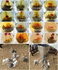 16 Organic Blooming Flower Green Tea Ball Individual Vacuum pack