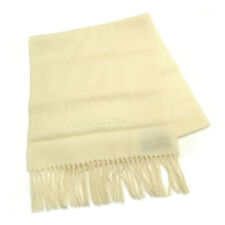 Lancel Scarf Logo White Woman Authentic Used D690