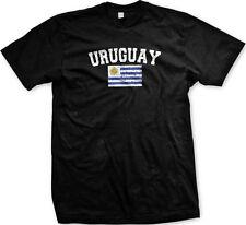 Uruguay Country Flag La Celeste Charrúas Pride Futbol Soccer Mens T-shirt