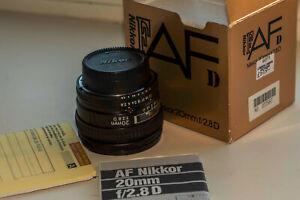 NIKON AF Nikkor 20mm f/ 2.8 D Prime Lens
